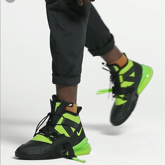 Nike Air Force 270 Utility Black Volt Yellow Men's NWT